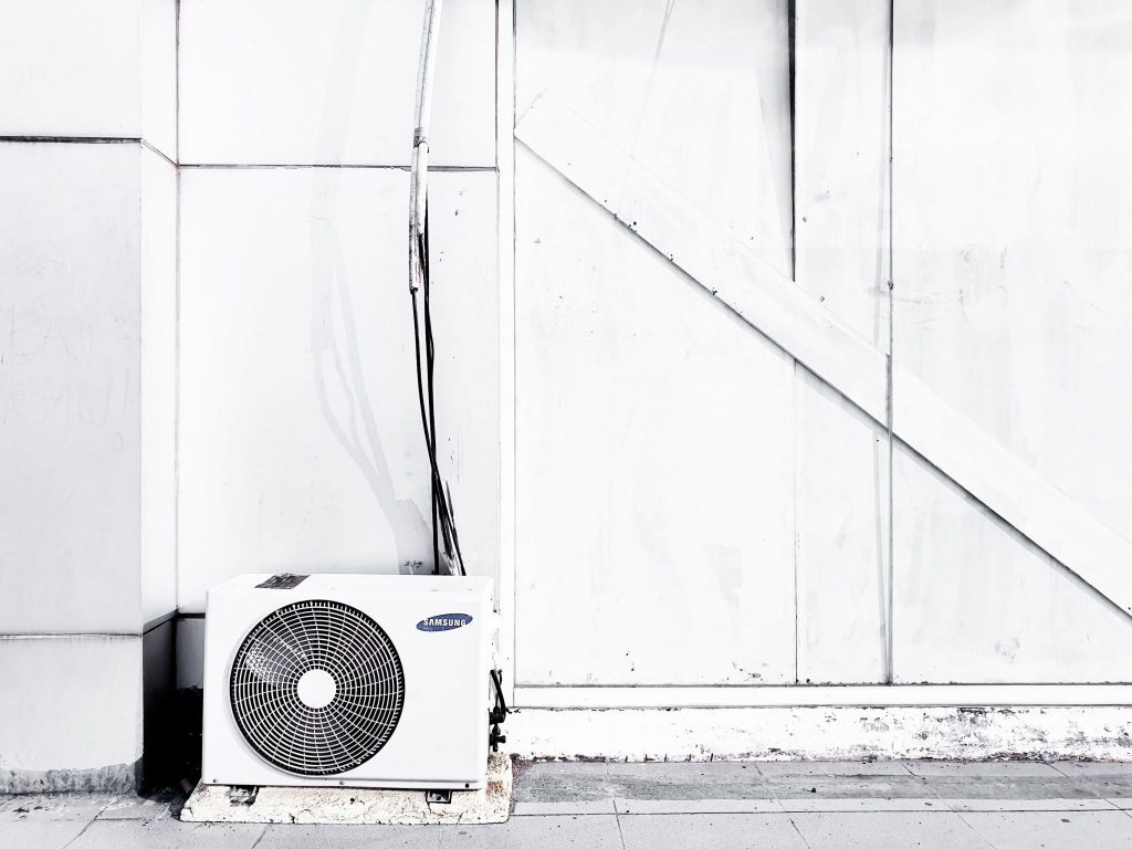 air conditioner outside a room
