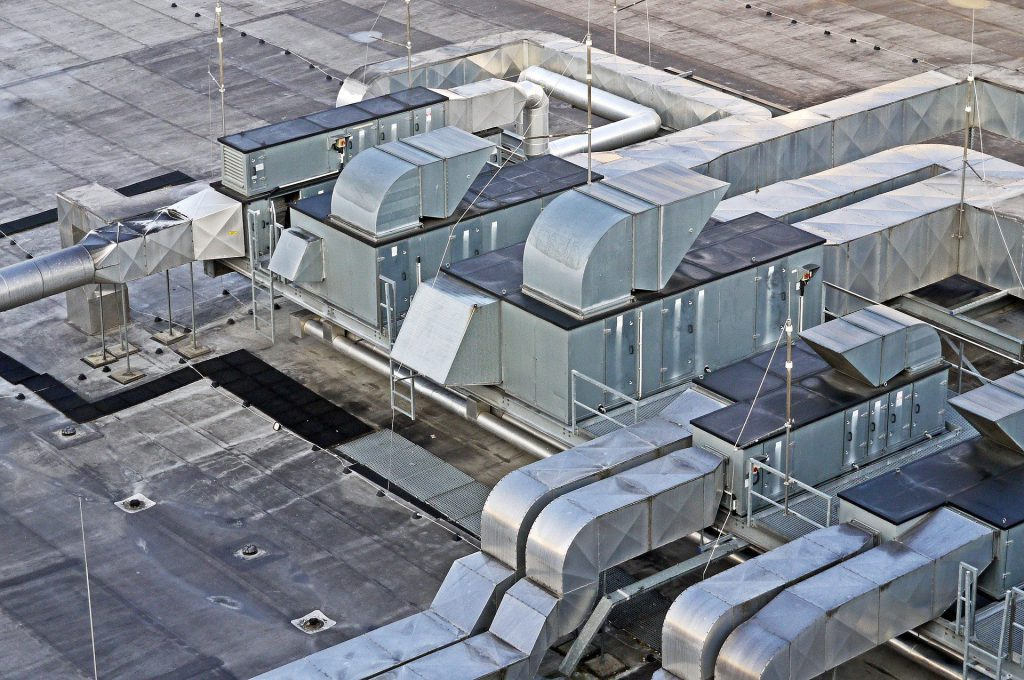 air ducts on the roof
