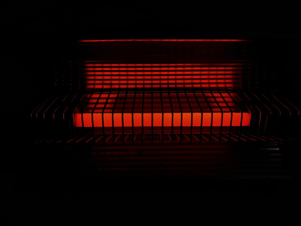 red glowing heater